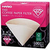 Hario V60 Disposable Paper Coffee Filters, 100 Count, Size 02, Natural, Untabbed