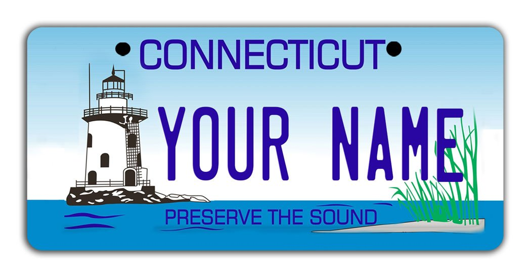 BleuReign Personalize Your Own Connecticut State Bicycle Bike Stroller Children's Toy Car 3''x6'' License Plate Tag