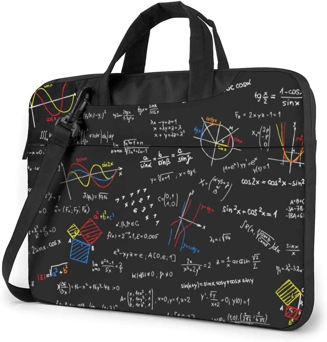 Math Lesson Shockproof Laptop Shoulder Messenger Bag Laptop Case Sleeve Laptop Briefcase Business Handbag