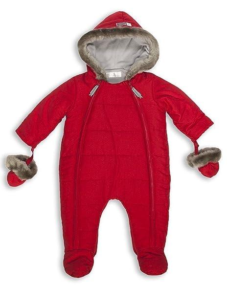 dd99d7e18 The Essential One - Trajes de Nieve Abrigo de piel para bebé - rojo - acolchado