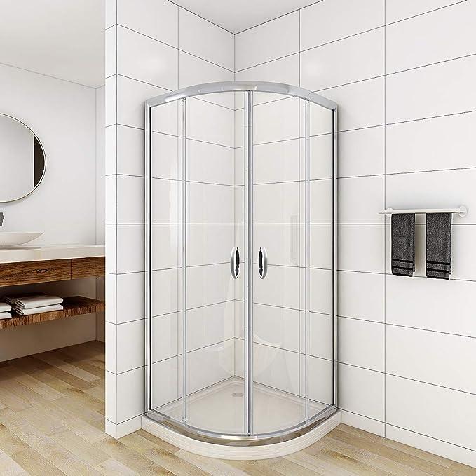 Cabina de ducha viertelkreis 90 x 90 x 190 cm redondo ducha Mampara de puerta corredera de ducha Cuadrante para cuarto de baño jdong: Amazon.es: Bricolaje y herramientas