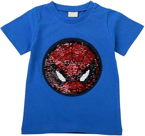 Character Wear Short Sleeve Child Tee Shirt Boys Kids Top T-Shirt Spiderman