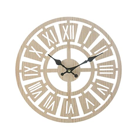 Reloj de pared vintage rústico de madera, reloj de pared antiguo Shabby Retro Home Kitchen Room ...
