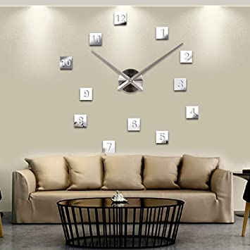 Buy Diy Wall Clock Home Decor Sticker Modern Large Art Office Room Luxury Living Bedroom Online At Low Prices In India Amazon In