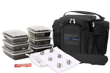 Amazon.com  Thin Blue Line 3 Meal Prep Bag Kit - Insulated Lunch Bag ... 2e89e2bdd4