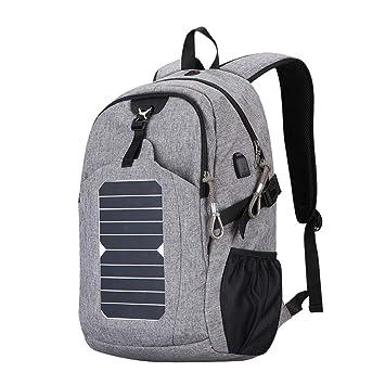 BAG Mochila Solar Casual para Hombres 25L Cargador USB de ...