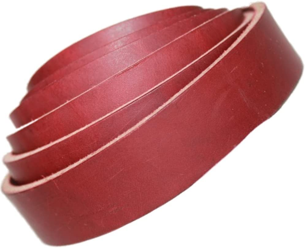 Burgundy 72 Inches Long,1//8 Inches Thick 8-9 oz TOFL Leather Shelf Strap 1 Inch Wide