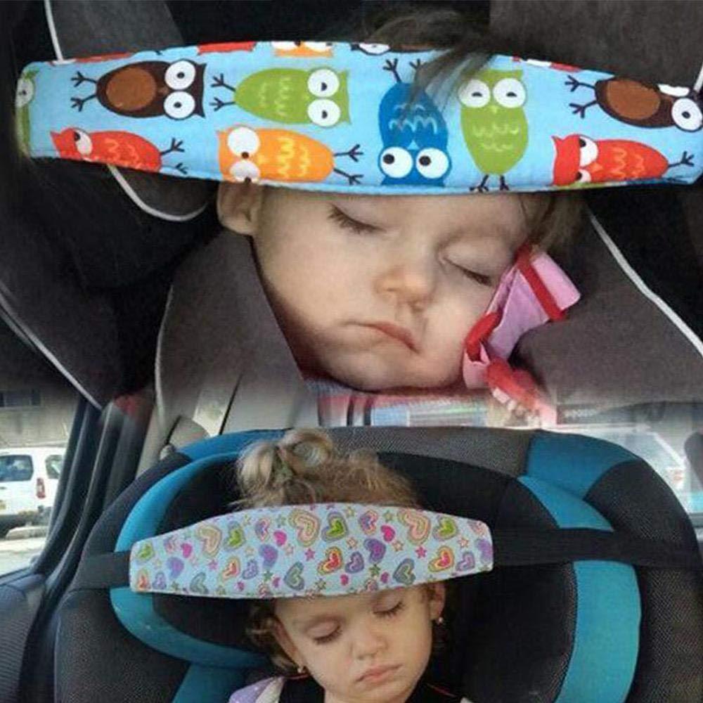 fascia regolabile multifunzione Supporto per la testa del seggiolino auto Womdee morbido e comodo per proteggere testa e collo per bambini per bambini e neonati