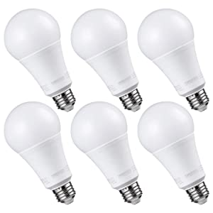 TORCHSTAR LED Dimmable LED A21 Bulb, 17W (100W Equivalent), 1600lm, 5000K Daylight, CRI 90+, UL & Energy Star Listed, E26 Medium Base, Pack of 6