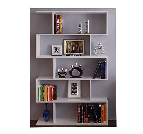 Scaffali Per Libri Design.Homidea Core Libreria Scaffale Per Libri Scaffale Per Ufficio Soggiorno Dal Design Moderno Bianco