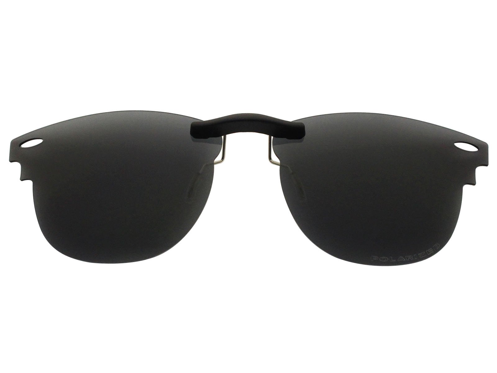 Custom Fit Polarized CLIP-ON Sunglasses For Ray-Ban RB3016 51X21 Black by COODY (Image #1)