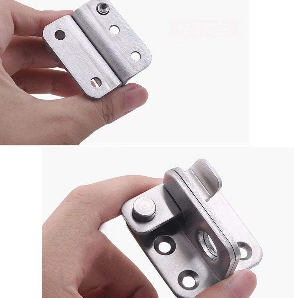MUMA Bolt Door Lock Gate Latch Tiny Padlock Hasp Color : Left open, Size : Small Stainless Steel Brushed Finish Open To The Left//right Anti-Theft Padlock
