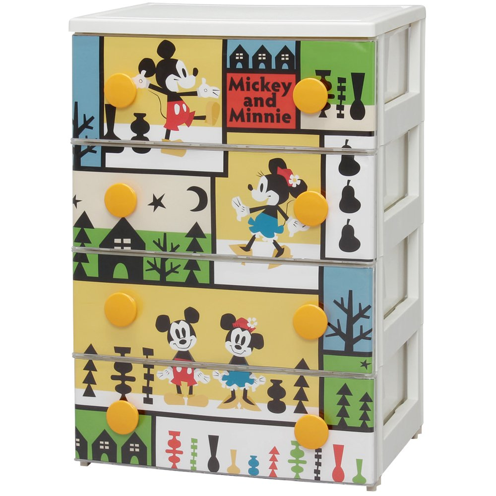 Character drawers K Mickey NF 4 drawers Iris Ohyama CHG-T554