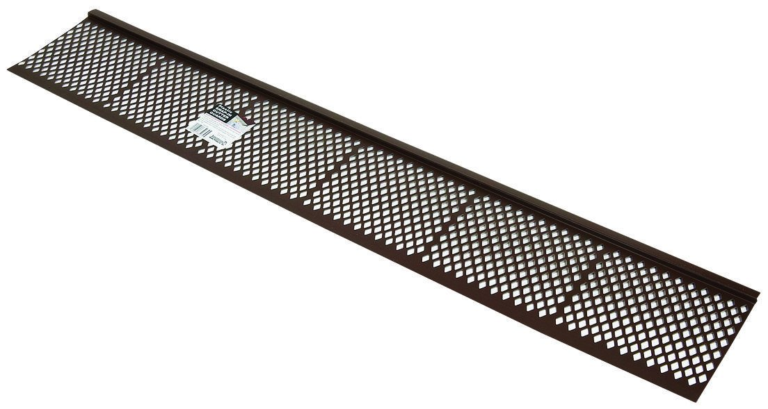 Amerimax 85279BX Snap-In Gutter Guard, 7 in W X 3 ft L, Brown