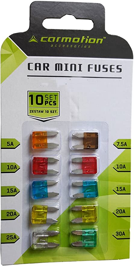10er Pack Kfz Sicherungen Mini Flachsicherungen 11mm Auto