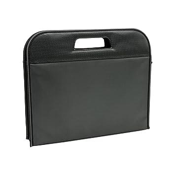 Jia Hu - Maletín de lona para ordenador portátil, bolso bandolera, cartera para tableta, organizador de documentos, color negro: Amazon.es: Oficina y ...