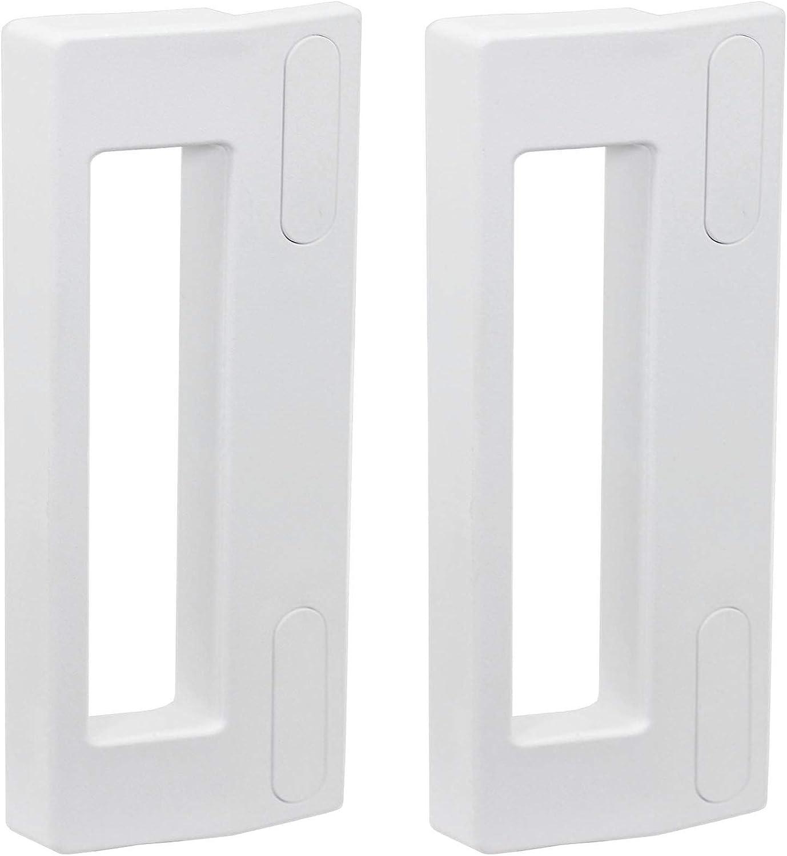 Spares2go - Tirador de puerta para congelador Teka (190 mm, 2 unidades), color blanco