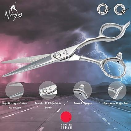 Ninja Thunder - Tijeras de peluquería profesionales: Amazon ...