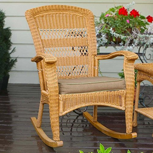Amazon.com: Tortuga Outdoor Plantation Wicker Rocking Chair: Kitchen U0026  Dining
