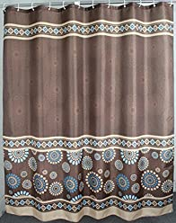 Welwo Shower Curtain, Standard Size_ Extra Long_Wide Shower Curtain Set  Paisley Shower Curtain For Home