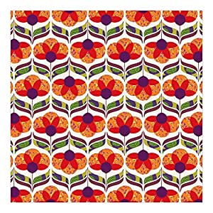 Non-Woven Wallpaper Colorful Flowerpower Wide, 74.8 x 113.4 inches
