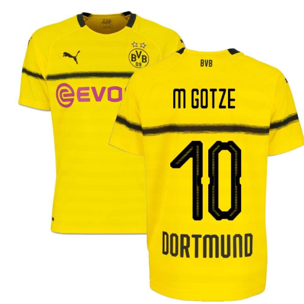 2018-19 Borussia Dortmund Home UCL Football Soccer T-Shirt Trikot (Mario Gotze 10)