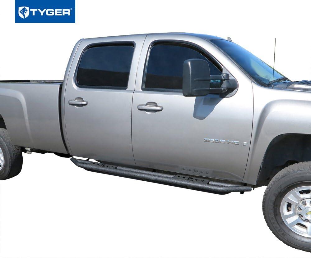 TYGER Star Armor Nerf Bars Fit 99-06 Silverado//Sierra 1500//2500//3500 Ext Cab