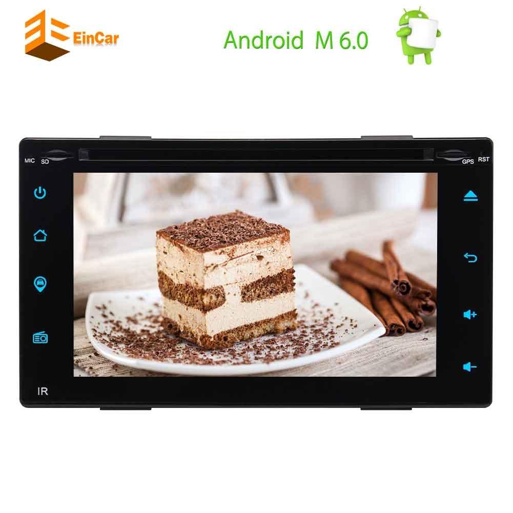 EinCarピュアアンドロイド6.0カーDVDプレーヤーは、6.2「」静電容量式タッチでダッシュGPSナビゲーションヘッドユニットシステムサポートAM / FMラジオのWiFiのBluetooth OBD2でダブルディンカーステレオを画面 B078CK2Q8P