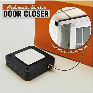 1 Pcs, Black 1//2pcs Punch-Free Automatic Sensor Door Closer,Automatically Close Door Closure for All Doors,Multifunctional Automatic Door Closer