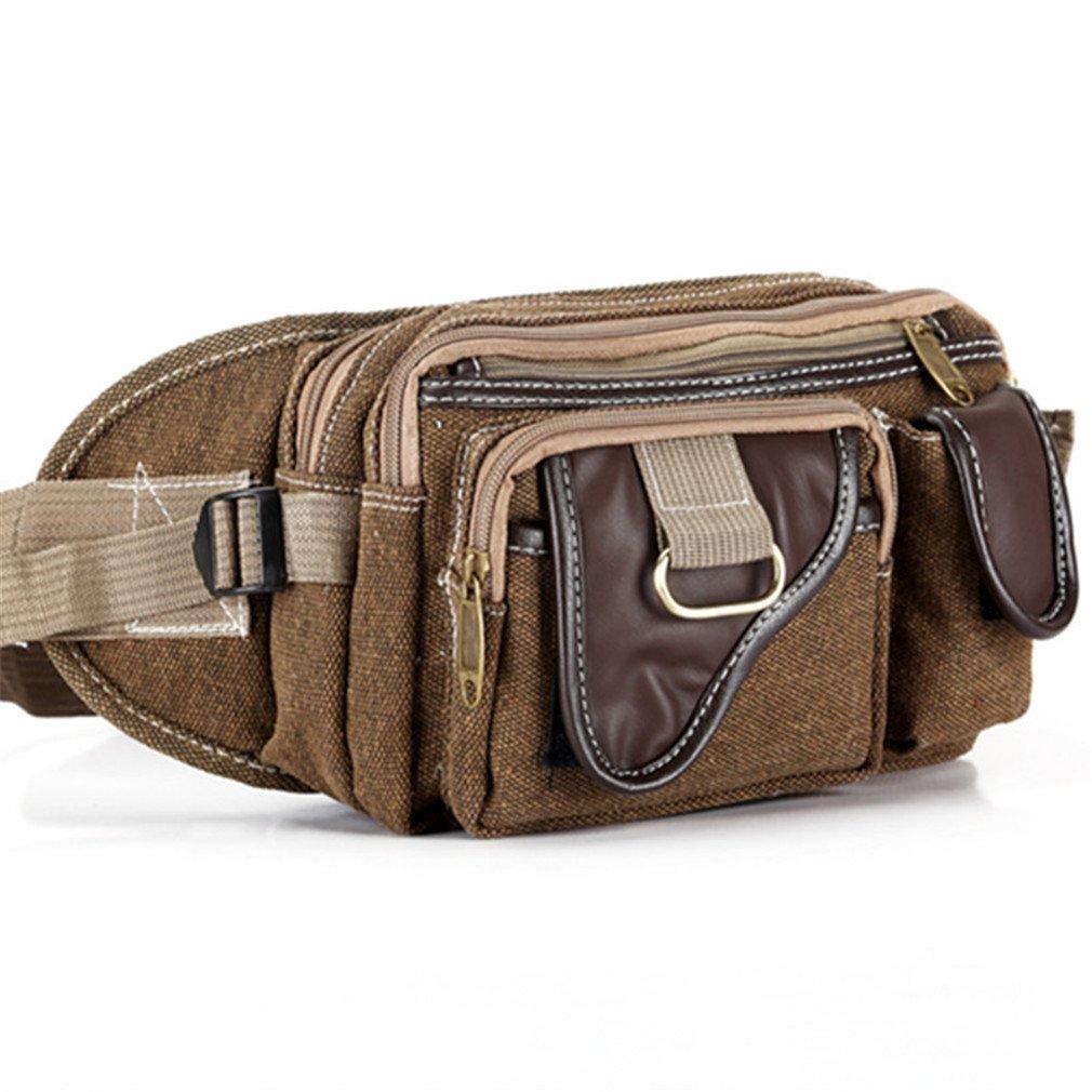 CCNMF Military Travel Pouch Pack Waist Bag Belt Shoulder Bag Men Leather Joint
