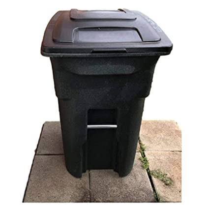 f91399a31f2f5e Amazon.com: Heavy Duty Trash Can with Lid Wheels Big Tall Waste 31 Gal  Commercial Outside Rolling Outdoor Cart & eBook by OISTRIA: Home & Kitchen