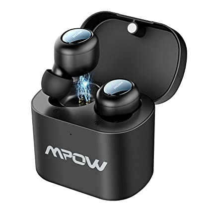 Mpow Auriculares Bluetooth 5.0, T2 TWS Auriculares Inalámbricos In-Ear Manos Libres con Caja