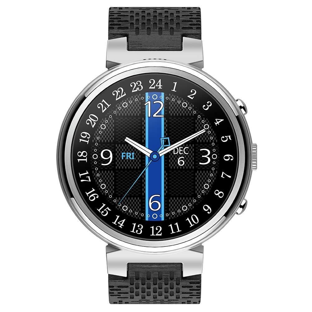 Amazon.com: IQI I6 Smart Watch Round Screen Leather Strap ...