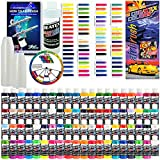 Createx Deluxe 80 Color Professional Airbrush Paint Set - Includes 80 Colors - Opaques, Transparents, Pearlescents, Flourescents and Iridescents and Airbrush Cleaner, Pack of 100 Paint Mixing Cups