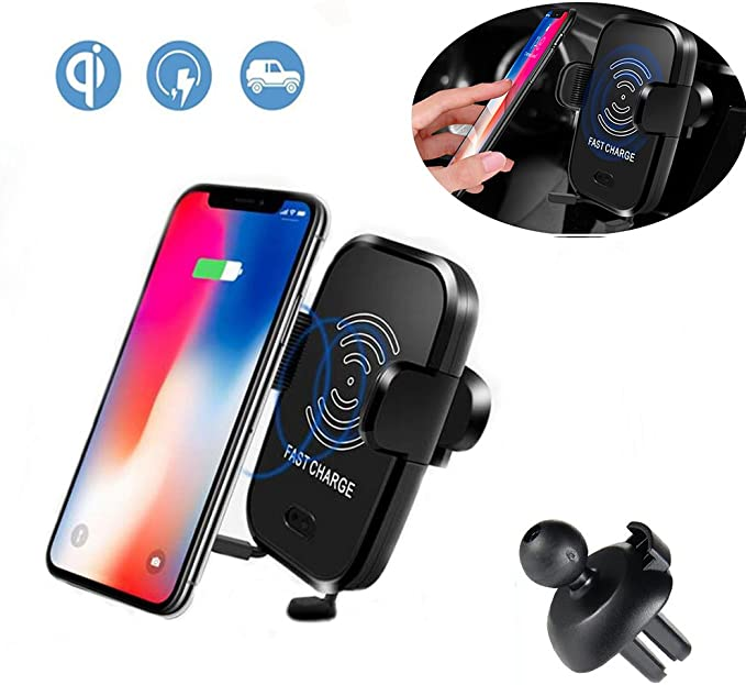 HZISC Qi Wireless Car Charger,Automatic Sensor Technology