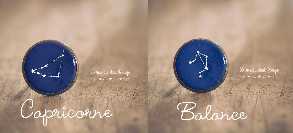 B/élier capricorne balance sagittaire Bague cabochon 25 mm Constellation vierge poissons lion Taureau scorpion g/émeaux Zodiaque Verseau cancer /étoiles Bleu nuit