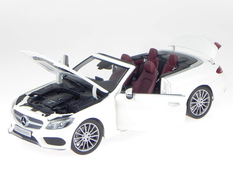 iScale Mercedes A205 C-Klasse Cabrio Diamant Weißs Modellauto 1 18