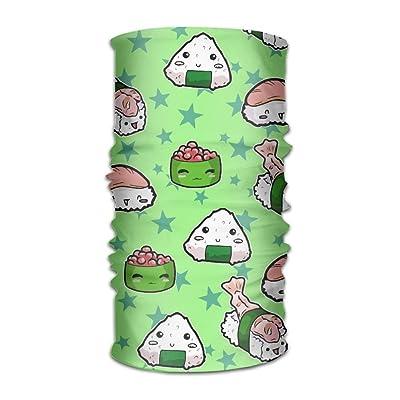 LionRiver Cute Japanses Sushi Kerchief Bandanas Sweatband Headwear Headscarf Elastic Turban