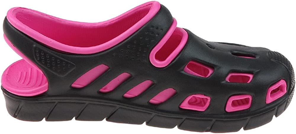 Capelli New York Girls Two Tone Injected EVA Closed Toe Sandal with Backstrap