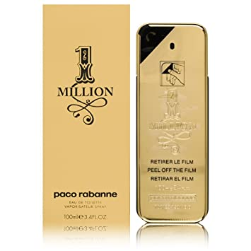 4fb77d3f4 Amazon.com : Paco Rabanne 1 Million By Paco Rabanne For Men Edt Spray 3.4  Oz : Eau De Parfums : Beauty