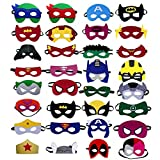 Superhero masks - Super hero party favors for kids, and birthday supplies 32 set for kids party