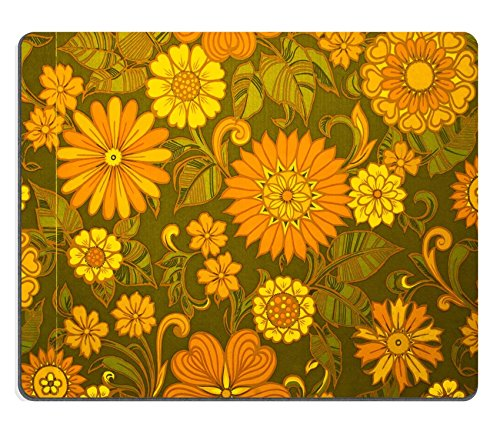 [MSD Mousepad Sixties Seventies Era Floral Print Wallpaper Brian Eno Speaker Flowers Sound Installation at Marlborough House Natural Rubber Material Image] (70s Era Clothing)