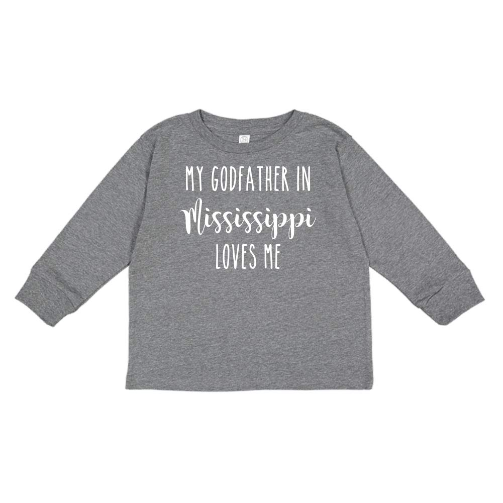 My Godfather in Mississippi Loves Me Toddler//Kids Long Sleeve T-Shirt