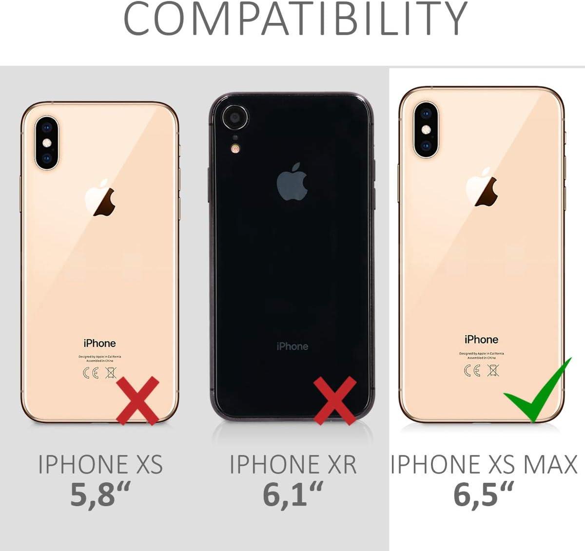 Carcasa Transparente de TPU con Cuerda para Colgar en el Cuello kwmobile Funda con Cuerda Compatible con Apple iPhone XS MAX