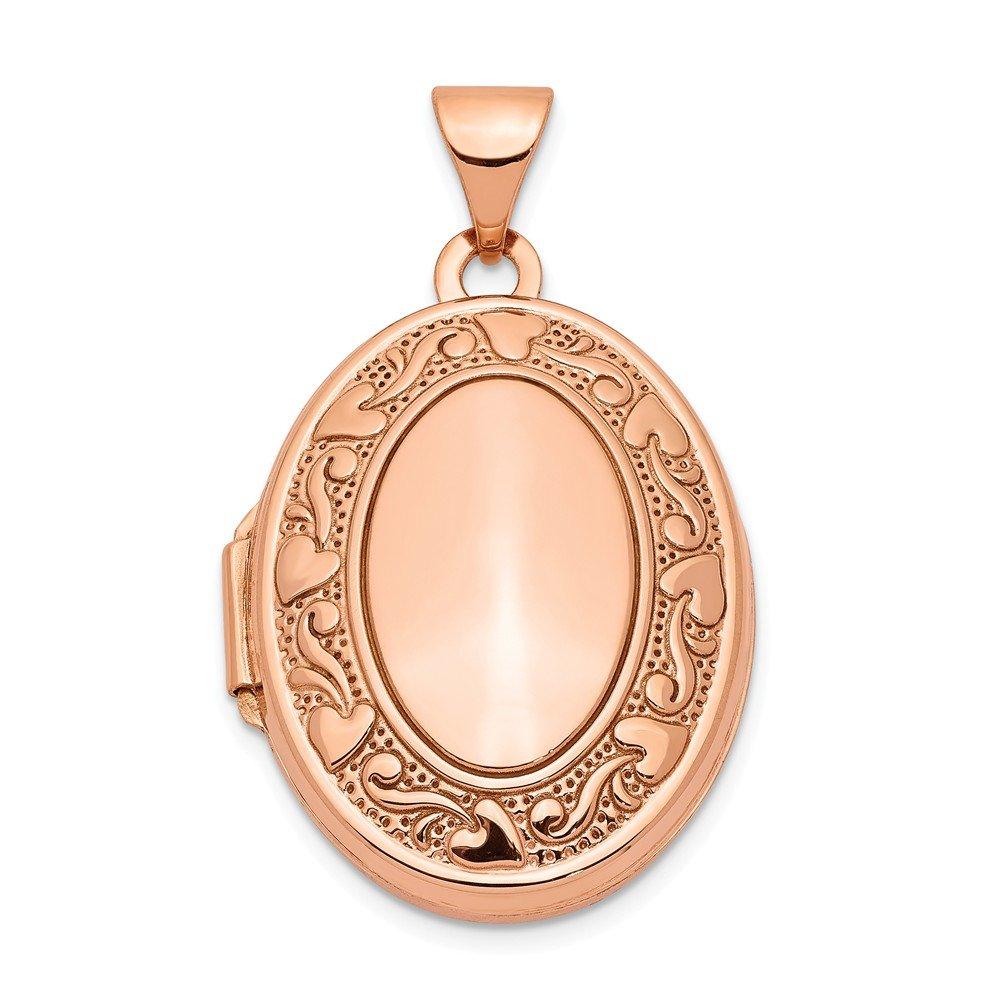 Medaillon 14 Karat Rotgold 21 mm oval
