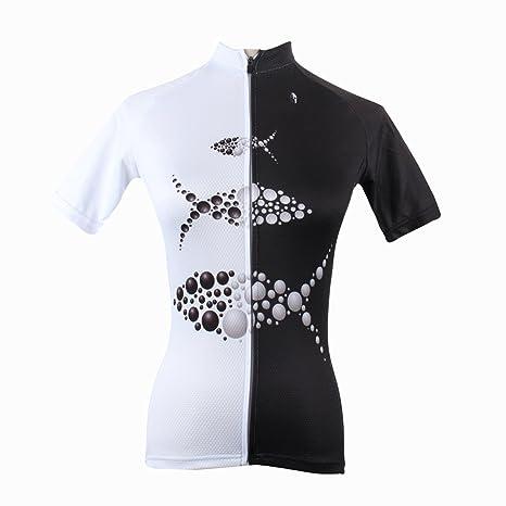 Ilpaladino Women s Cycling Shirts Short Sleeve Fish Pattern Bike Jerseys  Size XXS 88be27ff9