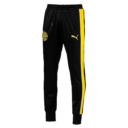 926a9daf1816 Amazon.com   PUMA Borussia Dortmund BVB T7 Pants Men 754098 02 black ...