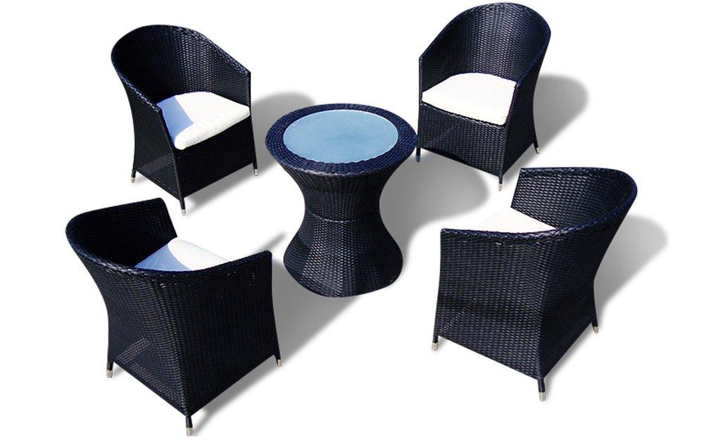 Rattanmöbel Sitzgruppe LISSABON | Hotel 1 Qualität (Braun)