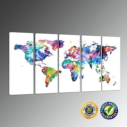 Amazon kreative arts gallery wrap canvas print modern popular kreative arts gallery wrap canvas print modern popular abstract world map canvas wall art 5 publicscrutiny Gallery