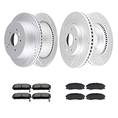 Front And Rear Brake Rotors For 2007 2008 2009 Chevy Equinox Pontiac Torrent